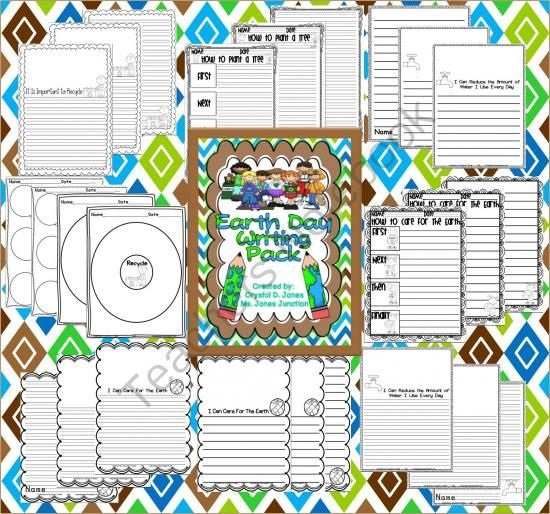 Free!!!! Earth Day Writing Pack from Ms Jones Junction on TeachersNotebook.com -  (34 pages)