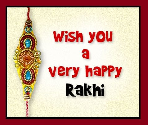 Greeting Card Of Wish You A Very Happy Rakhi