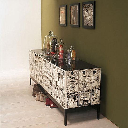 Decorating With Comics: Are you a comic book fan, or is there someone in your life who fits that description? Check out some big and little ways to express your comic book love in your home.