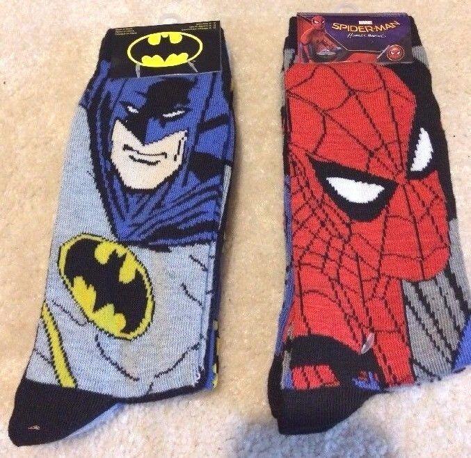 Kids Marvel Batman and Spiderman Socks  4 Pair #Marvel #AnkleSocks