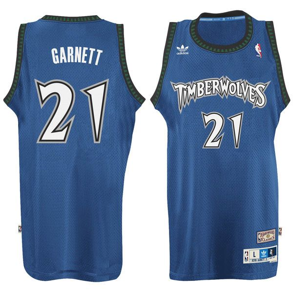 Kevin Garnett Minnesota Timberwolves adidas Hardwood Classic Swingman Jersey - Blue - $109.99