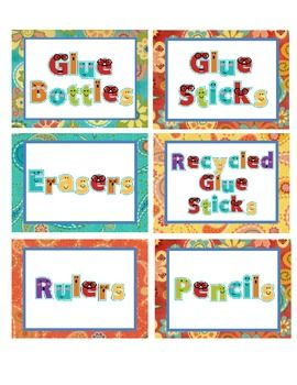 Labels for everything in your classroom! Includes many math manipulatives as well as days of the week, Library Books,