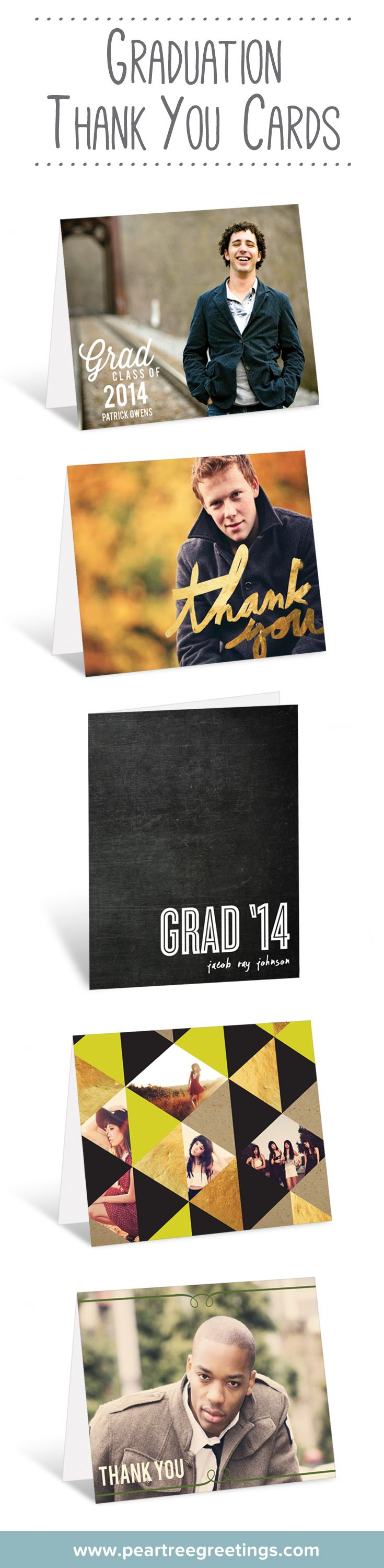 Graduation thank you cards because every gift deserves a thank you.