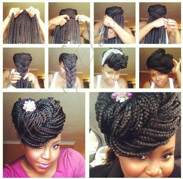 Miraculous 17 Best Ideas About Cute Box Braids On Pinterest Box Braids Short Hairstyles For Black Women Fulllsitofus