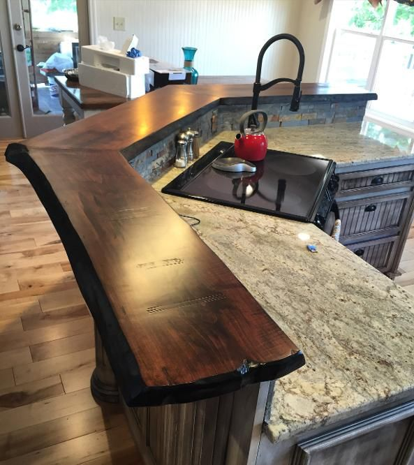 Image Result For Wood Slab For Countertop Rustic Countertops