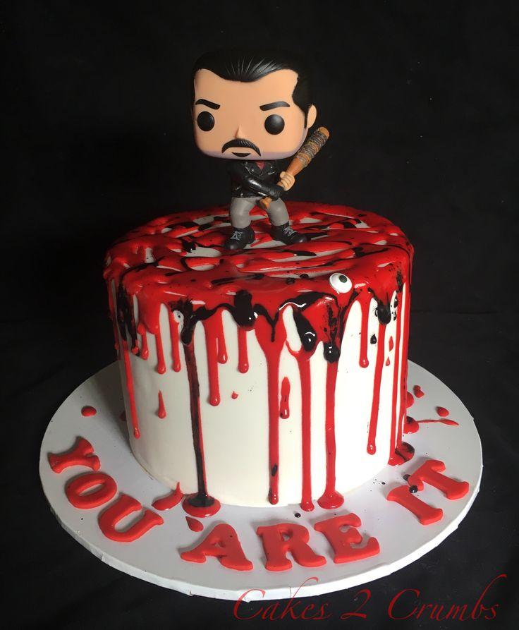 Negan walking dead cake