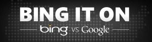 """#Bing ogłosił wczoraj nową wersję """"Bing It On Challenge"""", kampanię on-line, która ma porównać wyniki wyszukiwania Bing i Google  źródło: bing.com"""