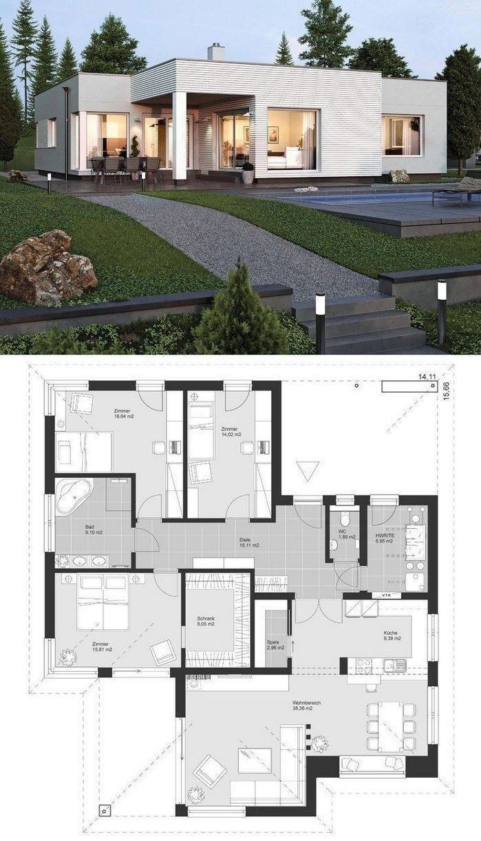 Free Modern House Plans 2021 Modern Contemporary House Plans House Architecture Styles Architecture House