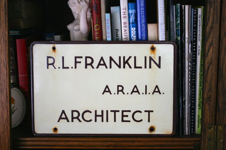 Enamel Architect Office Sign Man Cave Interior Design Industrial Decor Sign Collector Double-Sided by FoundByHer on Etsy