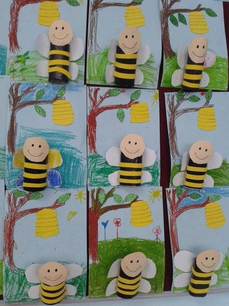 toilet paper roll bee craft_450x600