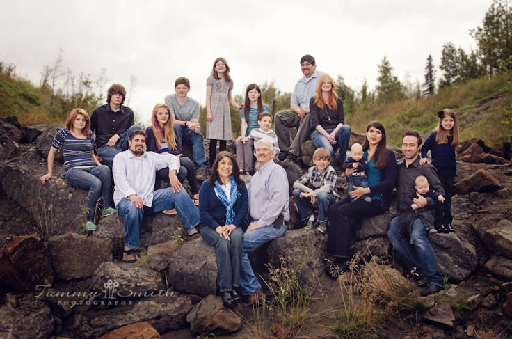 Large Family Posing; This would be sweet with my family!