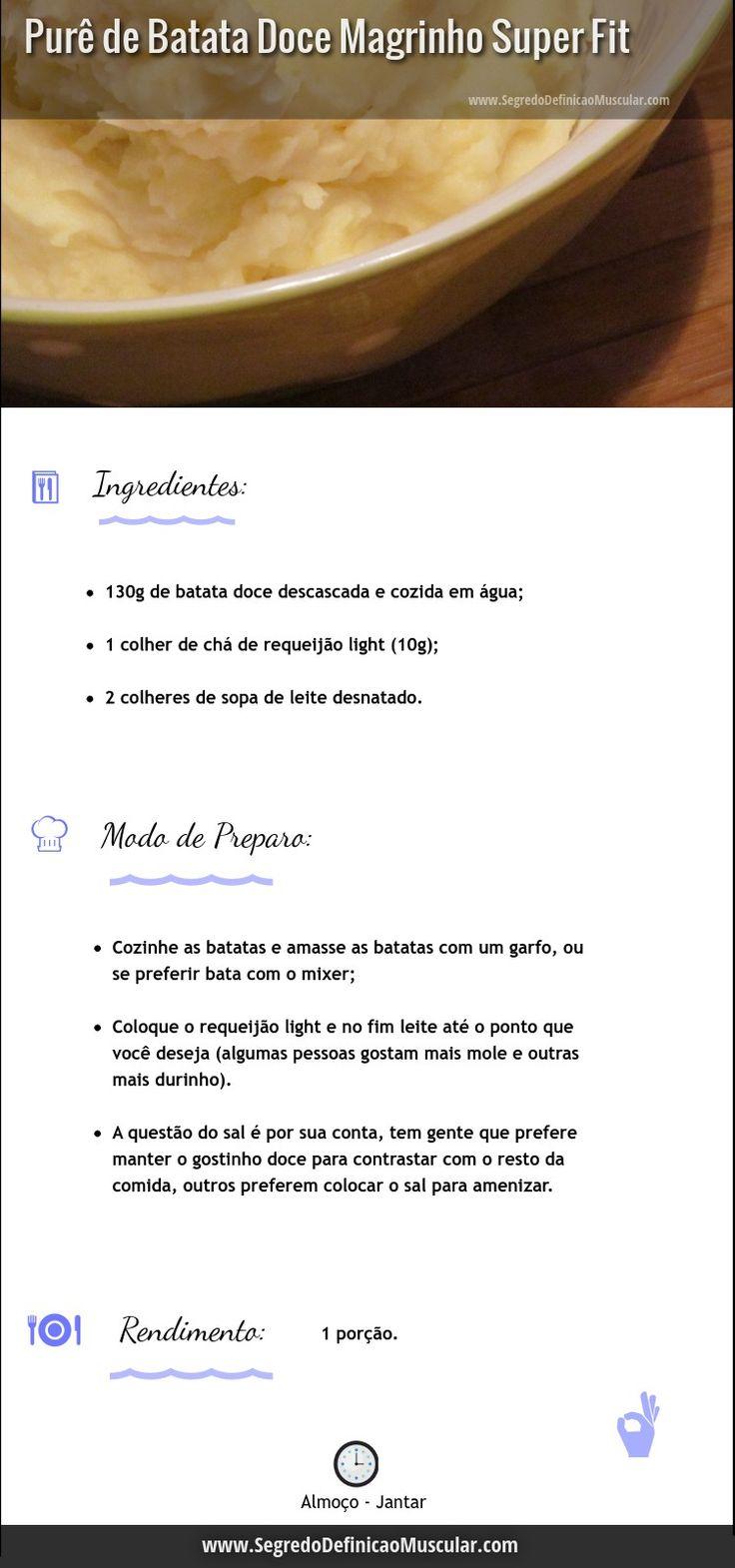 Receita Fit De Purê De Batata Doce Com Requeijão, Rápido e Nutritivo!