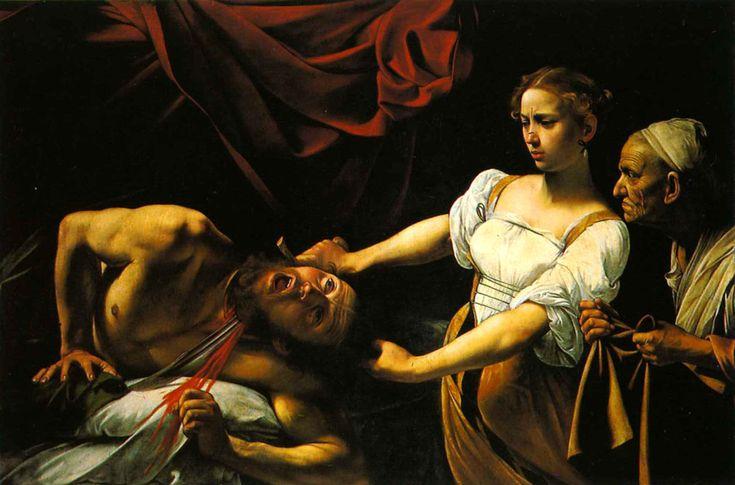 """Le Caravage, """"Judith et Holopherne"""", 1599."""