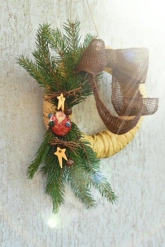 Winter Christmas wreath for door.
