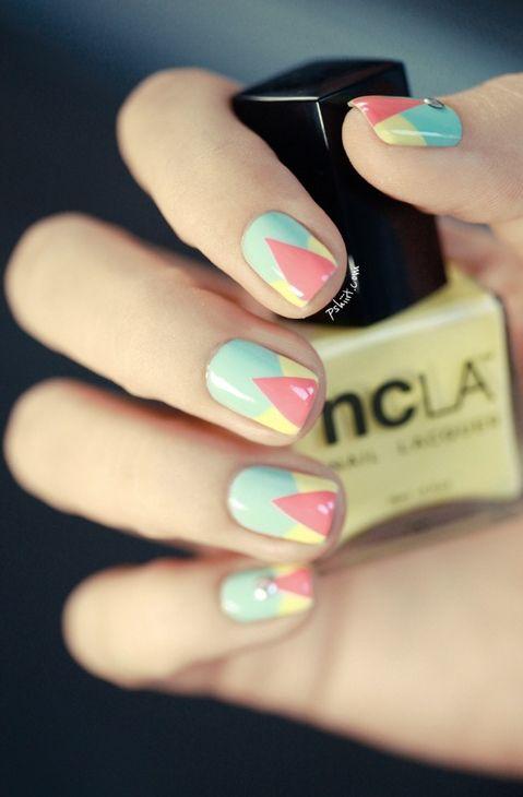 geometric nail art #manicure #nailart