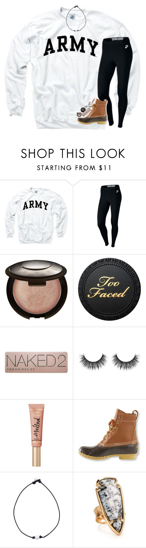 """you don't need no money, salvation is free"" by lindsaygreys ❤ liked on Polyvore featuring NIKE, Becca, Urban Decay, Too Faced Cosmetics, L.L.Bean and Kendra Scott"