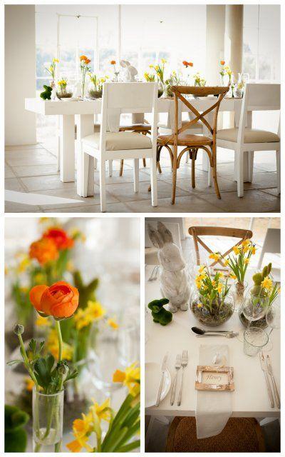 #Tablesettings #Weddings #Yellow #Orange #Bunnies #Fun #Theforumcompany  www.thegirlwiththecamera.co.za