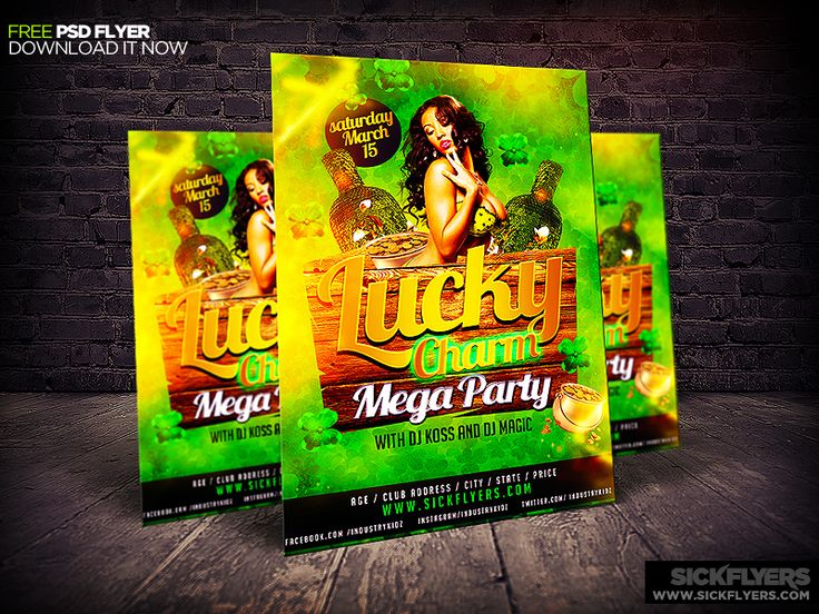 Free St Patrick's Day Flyer Template PSD by Industrykidz