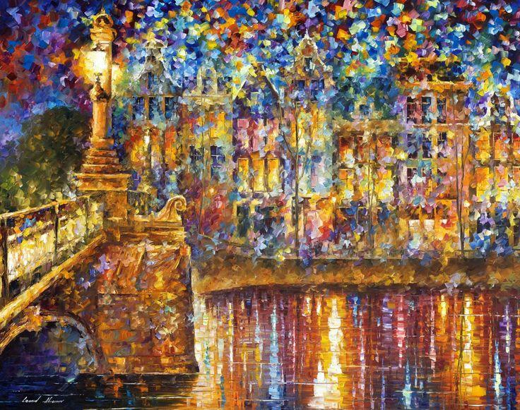 BEAUTIFUL NIGHT de Leonid Afremov ORIGINAL! hermosa pieza para realzar tu espacio personal http://afremov.com/LIVING-HARBOR-Original-Oil-Painting-On-Canvas-By-Leonid-Afremov-43-X57.html?bid=1&partner=14143
