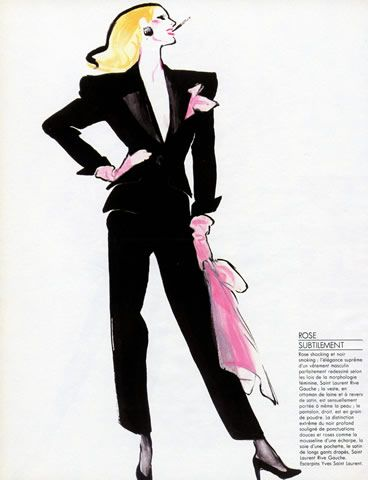 Tuxedo by Yves St Laurent - René Gruau. I didn't know this one!