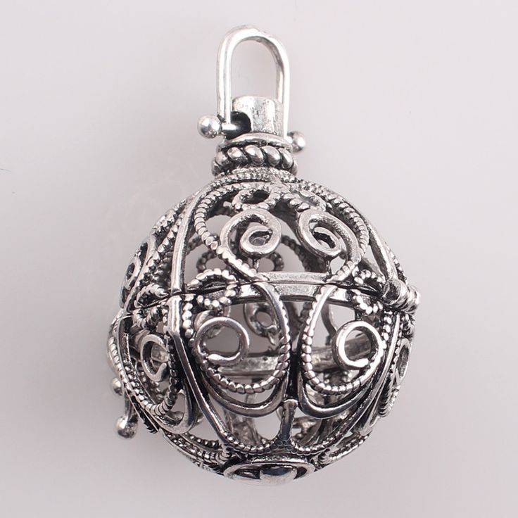 Gift For Pregnant Mother Music Ball Hollow Openable Cage Locket Pendant DIY Necklaces for Women Zinc. Click visit to buy