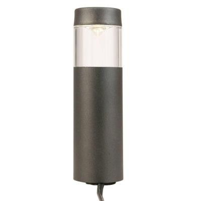 Hampton Bay, Low-Voltage LED Black Outdoor Round Bollard Path Light