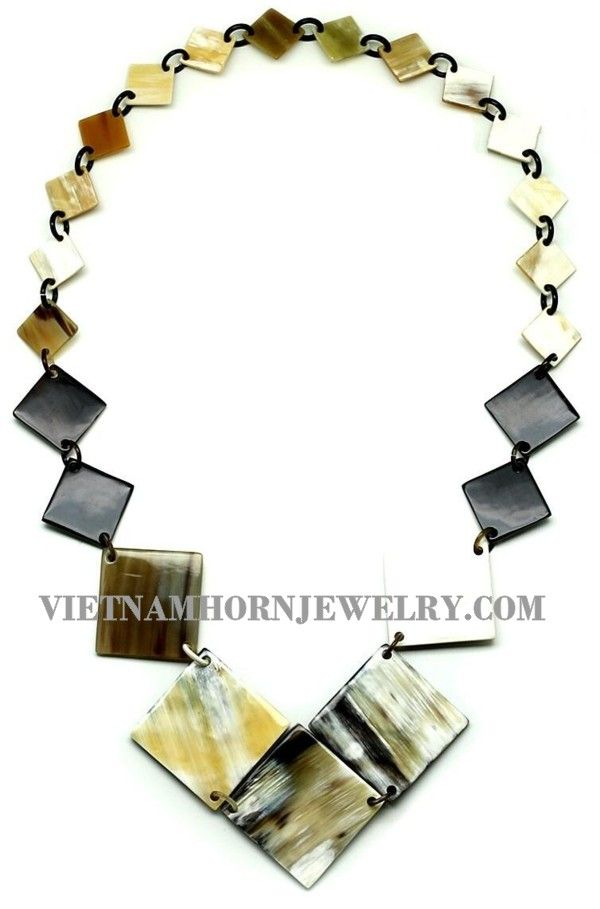 Natural Buffalo Horn Jewelry Set Necklace Earrings