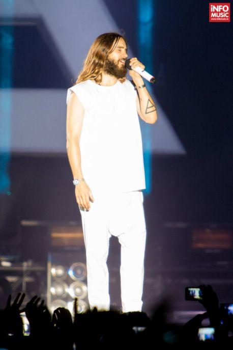 Jared Leto în primul concert Thirty Seconds to Mars din România.
