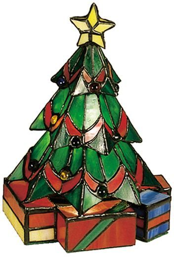 An accurate replica of an adorned Christmas tree, with tinsel and presents under it.  Via:  http://www.homedit.com/christmas-tree-lamps/#
