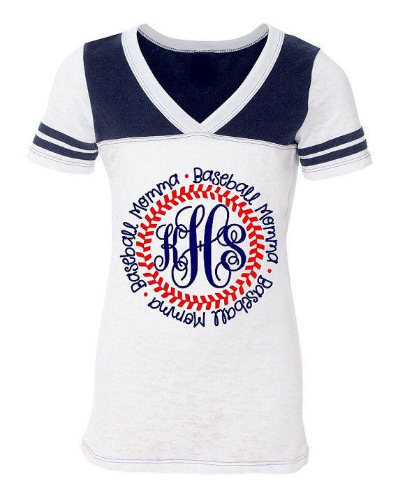 MONOGRAMMED BASEBALL MOM Shirt Ladies Fit by Monogramjunkie, $29.99
