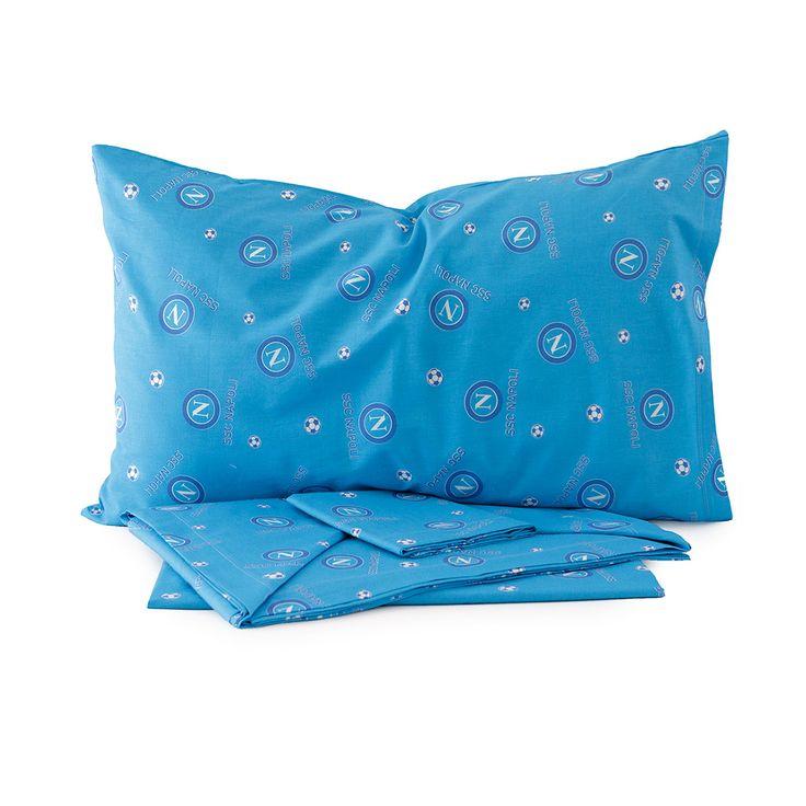 Completo lenzuola matrimoniale ssc napoli ufficiale originale cotone