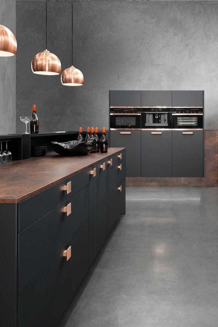 30+ Impressive Black Kitchen Interior Ideas That Will Look ...