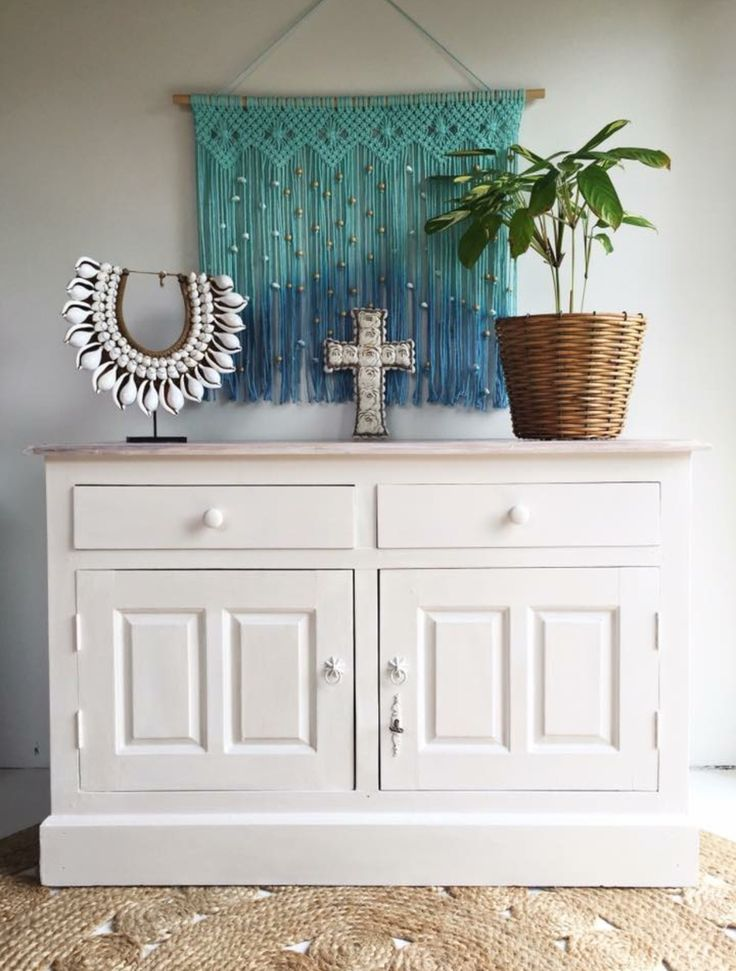 Antique sideboard painted in Mezzie and Frank pavlova.