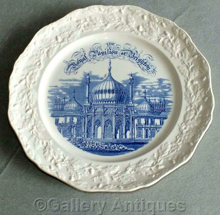 Excited to share the latest addition to my #etsy shop: #Vintage #Masons ironstone #Royal #Pavilion at #Brighton #Commemorative Collectible #Souvenir Plate in Blue and White Floral Embossed Rim c.1980's #collectibles #blue #white http://etsy.me/2hZx3qZ