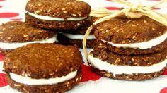 Mini kakaovo ovesné sušenky se šmakounovou náplní