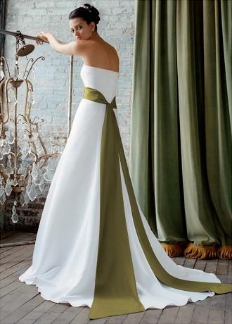 17 best images about olive green khaki and sage wedding on for Olive green wedding dresses