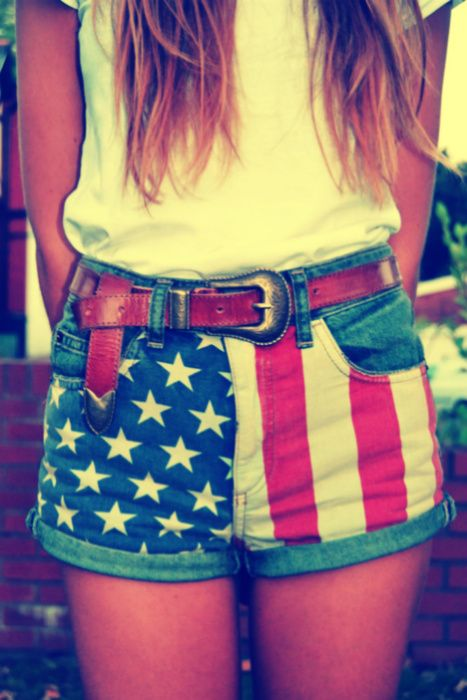 i like.: Outfits, Fourth Of July, Red White Blue, American Flags Shorts, 4Th Of July, Cool Patterns, Cute Clothing, American Girls, Belts