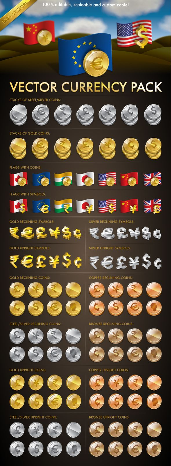 Vector Currency Pack by MelissaReneePohl