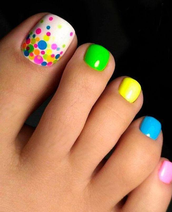 Like This Idea For Summer Pedi Summer Toe Nails Toe Nail Designs Pretty Toe Nails