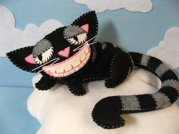 Cheshire Cat Plush in 2 Sizes Instant Download Pattern by violetpi
