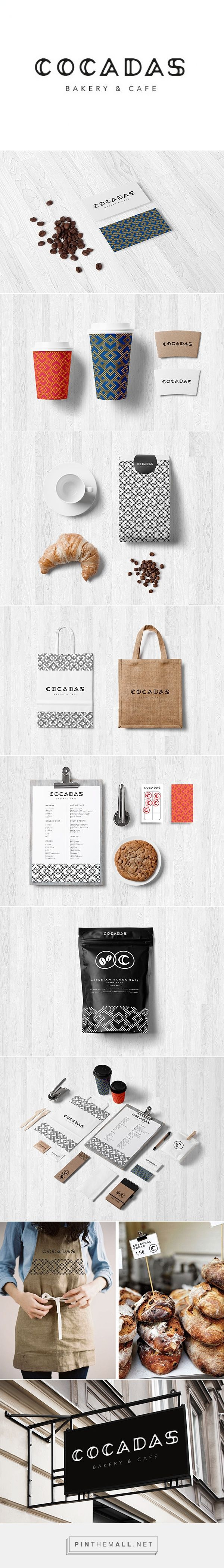 C O C A D A S - Bakery & Cafe on Behance by Laia Gubern curated by Packaging Diva PD. Tasty identity packaging branding. Who wants to go : )