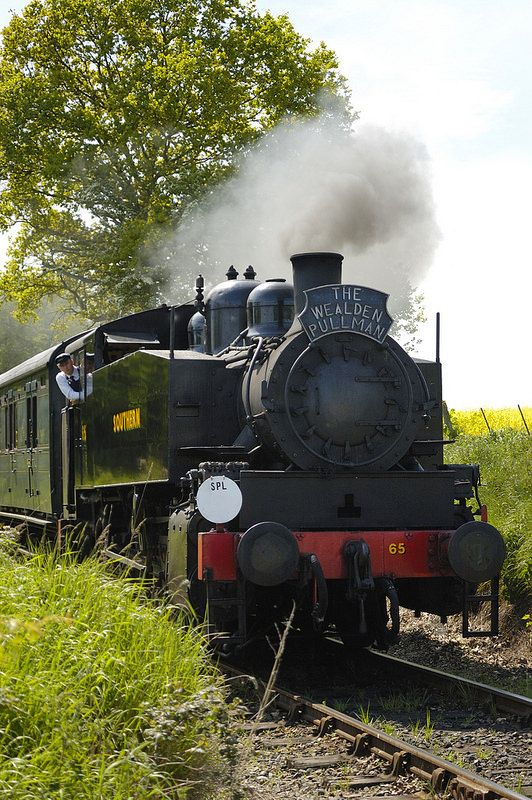 Steam train, England countryside by Graham Fellows