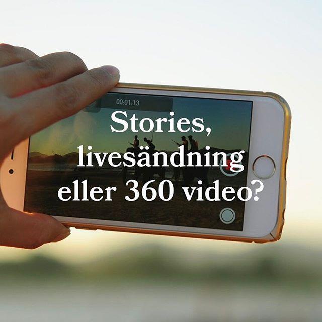 Är du intresserad av att veta mer om stories, livevideo eller 360 video? In och läs vårt nya blogginlägg på cordovan.se! 😄 #livevideo #stories #360video