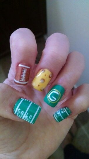Greenbay packers nail art