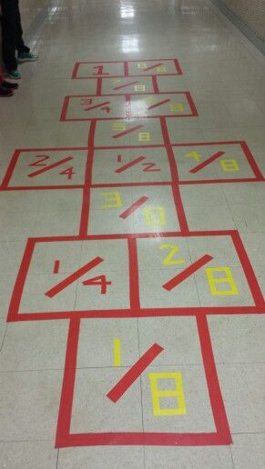 Equivalent Fraction Hopscotch