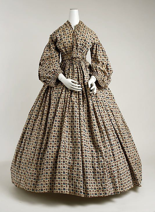 1850-65, American, Metropolitan Museum of Art (this is a morning dress, unlikely to have been worn in public)