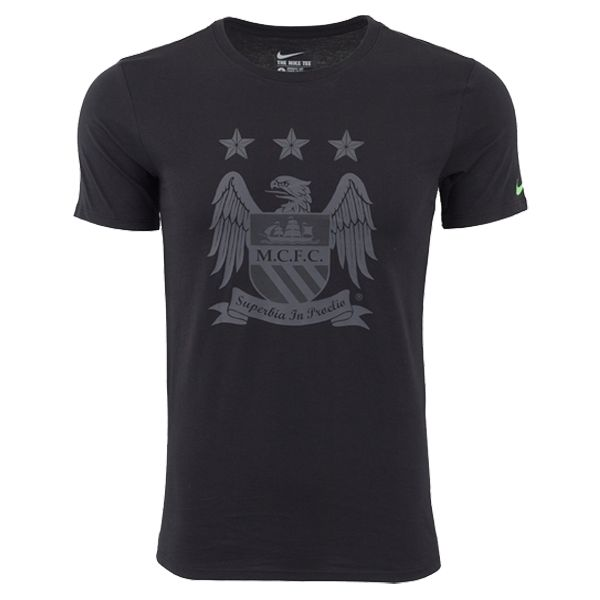 Nike Manchester City Crest T-Shirt (Black/Grey)