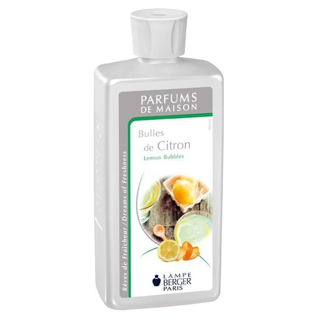 Lemon Bubbles 500ml Fragrance by Lampe Berger - Style of Life Home made lemonade, fresh zesty and sparkling - just like this fragrance - Lemon Bubbles, a lemony fragrance with a subtle floral heart.