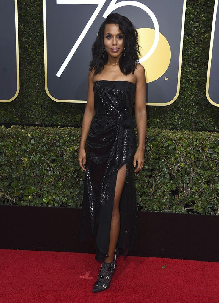 CityEvents Blog | Kerry Washington est forte en robe noire étincelante au Golden Globe