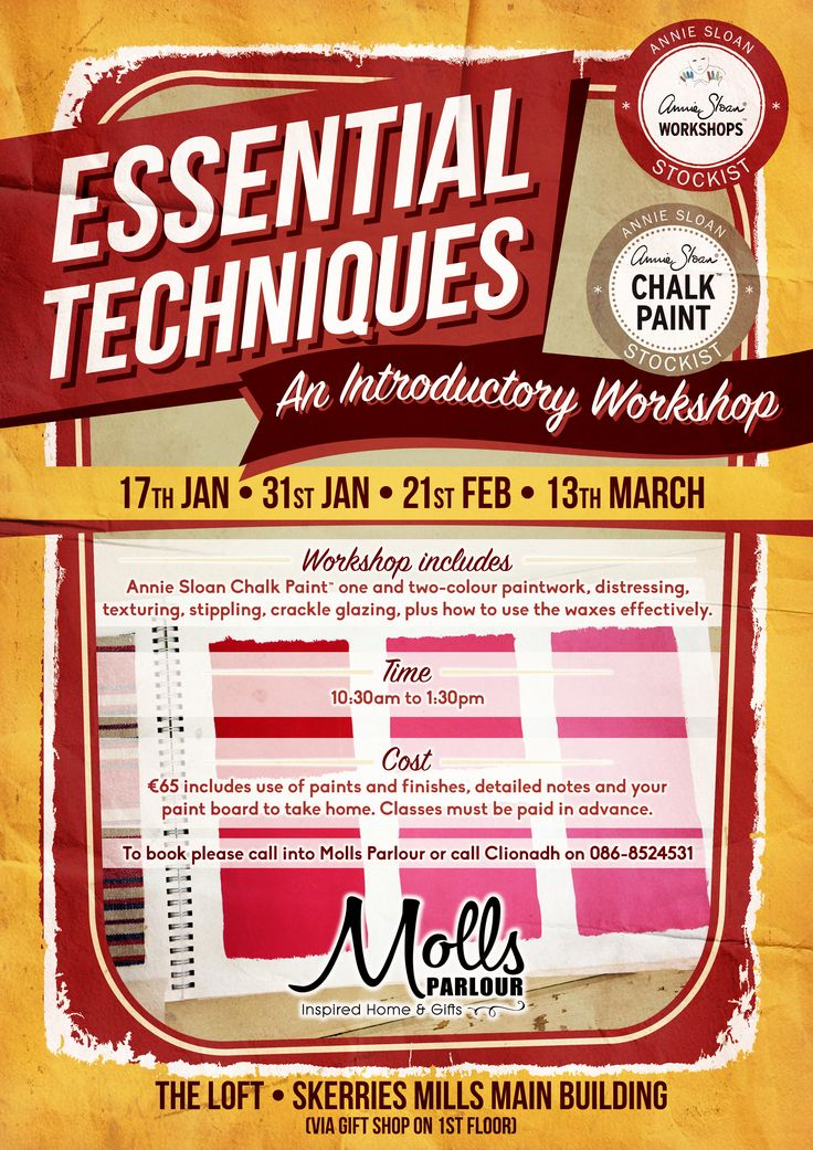 Next workshop dates 21st February & 13th March . *Molls Parlour *Skerries, Co Dublin, Ireland